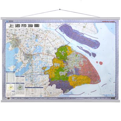上海市地图挂图 挂绳版 1:20万 (双膜)
