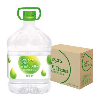 【苏宁超市】屈臣氏(Watsons)饮用水(蒸馏制法)8L*2桶 整箱