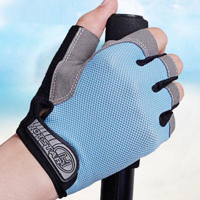 運動手套男女薄款防滑露指動感單車戶外登山騎行健身半指手套威珺