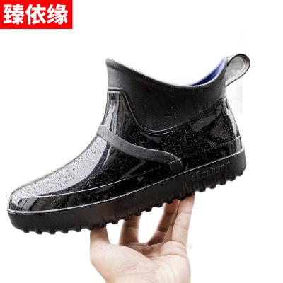 雨鞋男低幫韓國時尚潮流膠鞋四季防滑防水鞋成人雨靴男士短筒套鞋 臻依緣
