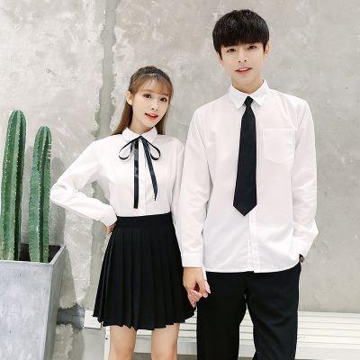 畢業班服學院風白襯衫套裝網紅校服女學院風韓國初高中學生裝裙子威珺