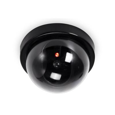 BONJEAN半圓球形仿真攝像頭假監控器家用防偷盜大號帶紅外閃爍燈探頭模型