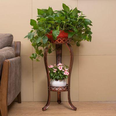 2020年新款歐式鐵藝花架多層客廳室內外綠蘿吊蘭花盆架加厚綠蘿花架特價