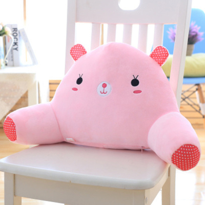 七日愛(Qiriai)可愛加大號靠墊辦公室抱枕卡通腰枕腰墊椅子護腰靠枕靠背床頭靠墊