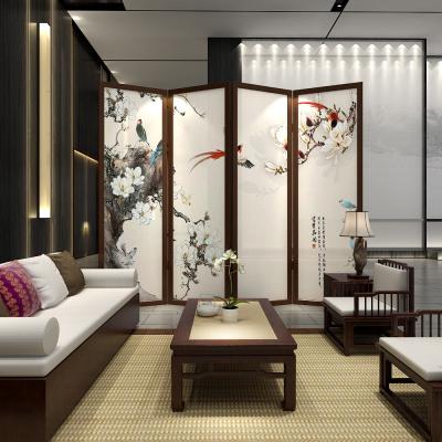 卡汐沐中式屏風隔斷客廳家用墻遮擋臥室辦公室茶樓酒樓玄關實木折屏