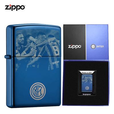 zippo之宝打火机原装ZIPPO煤油打火机国际米兰联名款-国米纹章ZCBEC-84