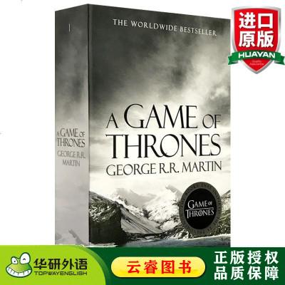 權力的游戲 英文原版 A Game of Thrones 冰與火之歌1 英文版奇幻小說 A Song of Ice