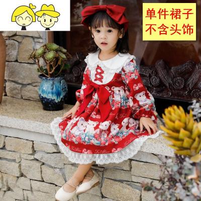女童秋装洛丽塔公主裙宝宝中小儿童lolita生日礼服日系萝莉连衣裙