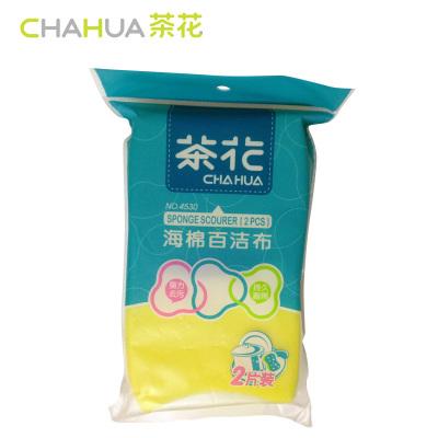 茶花(CHAHUA)海棉百洁布洗碗布去污(2片装)海棉 4530