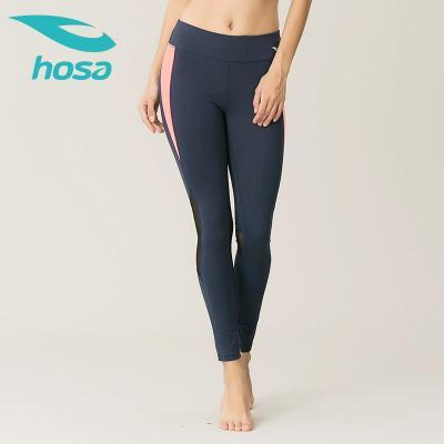 hosa浩沙瑜伽褲女 彈力運動緊身長褲網跑步紗健身訓練褲顯瘦