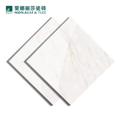 蒙娜丽莎瓷砖地板砖客厅瓷砖800x800地砖雅士白亮光石纹8FMB1430PCM