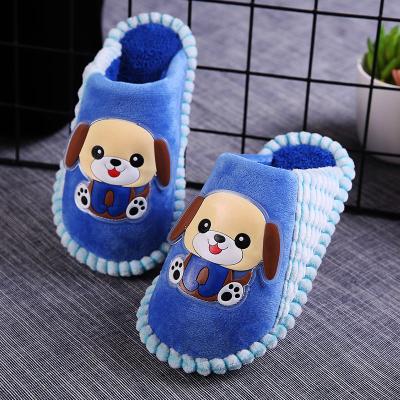 兒童棉拖鞋冬季室內可愛卡通軟底防滑保暖舒適男童女童寶寶棉拖鞋