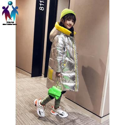 【厂家直营】女童棉衣冬装2019新款冬季儿童长款羽绒棉服大童外套洋气棉袄童装