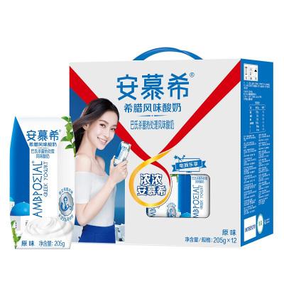 伊利 安慕希 希臘風味 常溫酸奶原味 205g*12盒/箱