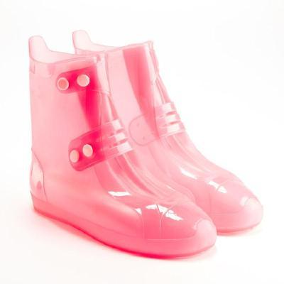 雨鞋套中筒男女徒步時尚防雨鞋套加厚兒童雨天防水鞋套防滑耐磨底威珺