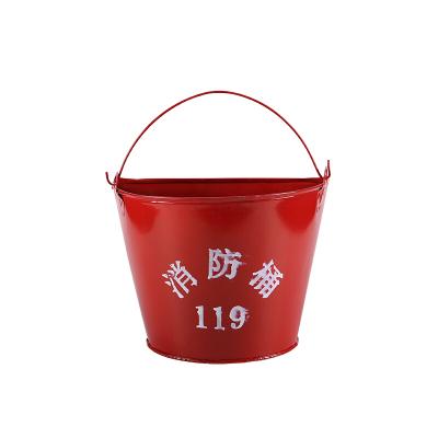 工霸(GONGBA)加厚消防黃沙桶 半圓形烤漆鐵桶 加油站使用桶 撲火工具 消防器材
