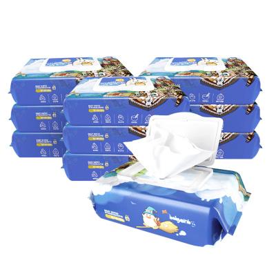 怡恩贝(ein.b)婴儿护肤柔湿巾 80片*10包 宝宝手口湿纸巾带盖抽纸