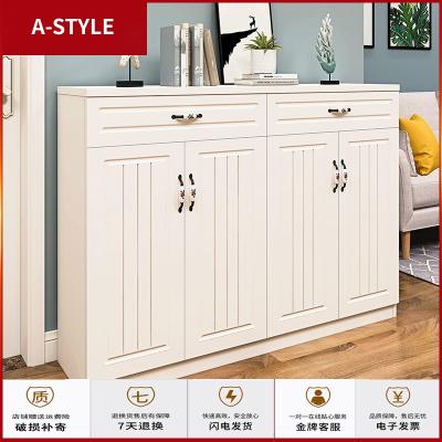 苏宁放心购进鞋柜简约现代厅柜多功能柜子储物柜大容量高款欧式白色鞋柜A-STYLE