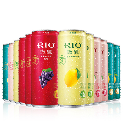 銳澳(RIO)洋酒 雞尾酒 預調酒 微醺系列組合330ml*12 4口味