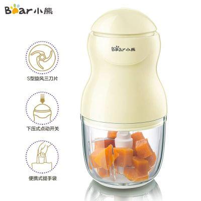 小熊(Bear)嬰兒輔食機 家用寶寶果泥料理機 多功能電動絞肉機榨汁機攪拌機 可研磨果汁機 0.3L QSJ-A01P6
