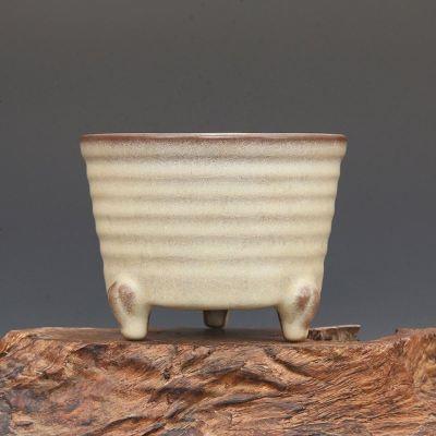 宋 官窑 呈探灰 玄纹 支钉三足炉 古董瓷器古玩古瓷器老物件收藏