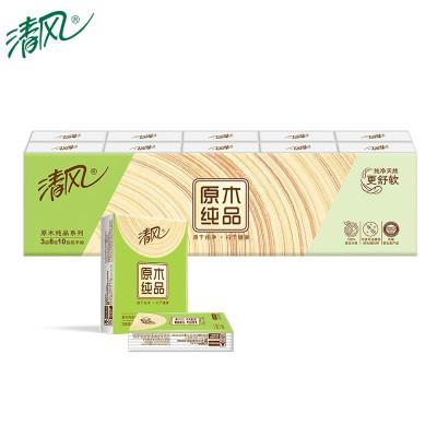 清風 手帕紙 原木純品紙巾3層8張10包 迷你包