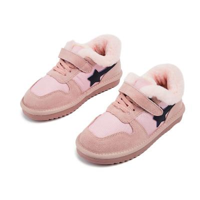 【兩件2折價:113】gxg kids童鞋女童加絨秋冬保暖鞋時尚魔術貼保暖運動鞋