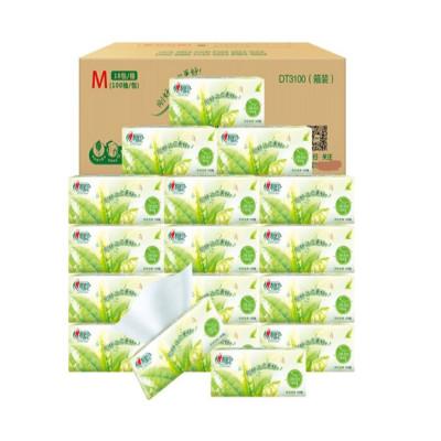心相印 茶語經典系列軟抽紙巾 面巾紙擦手紙DT3100 6包/提(新老包裝隨機發貨)