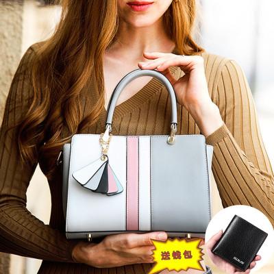 蒂蘭仕女包2019新款包包女包DLS-0935女士斜挎包女 單肩包女 韓版牛皮鉑金包撞色女包日韓風范 手提包女士包包