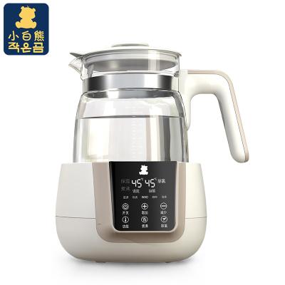小白熊(XIAOBAIXIONG)恒温调奶器多功能恒温水壶智能家用玻璃养生壶温奶器1.2L HL-0857