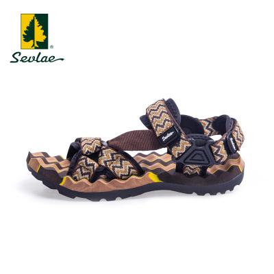 sevlae圣弗萊戶外男士運動沙灘涼鞋夏季舒適防滑魔術貼休閑涼鞋9121691502