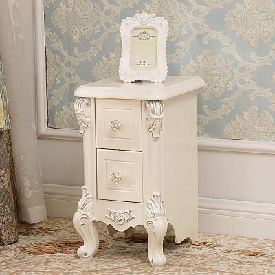 床头柜 窄款床边小柜子新款家具30cm35cm40cm45宽小户型欧式简约迷你床头柜 B款(30cm)银色象牙白 整装