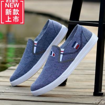 牛筋底片男鞋透氣老北京布鞋英倫帆布鞋學生休閑板鞋防滑耐磨鞋子