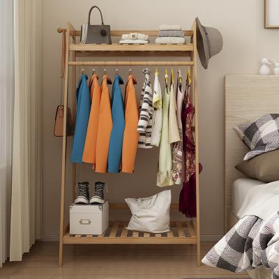 阿斯卡利(ASCARI)掛衣架落地臥室收納置物竹省空間掛衣服的架子簡易衣帽架