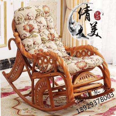 印尼真藤椅子天然藤搖椅老人椅躺椅陽臺午睡椅成人逍遙室內搖搖椅