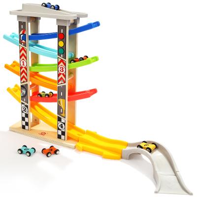 特寶兒(Topbright)六軌競速滑翔車 男孩玩具車女孩寶寶滑翔軌道車幼兒童早教益智玩具套裝120334