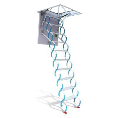 復式別墅閣樓伸縮樓梯全自動隱形家用室內外小梯子升降拉伸樓梯定制 碳鋼加厚款700*1000