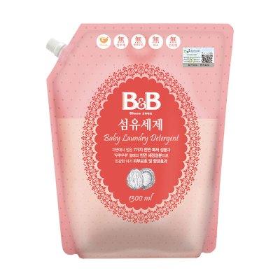 保宁(B&B)洗衣液 婴儿衣物纤维洗涤剂1300ml袋装 自然清香