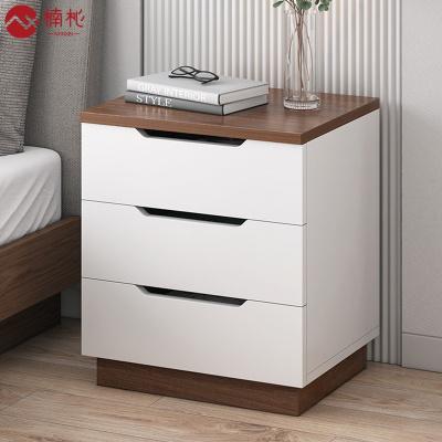 楠杺 床頭柜簡約現代收納柜簡易臥室多功能置物架床邊小柜子儲物柜