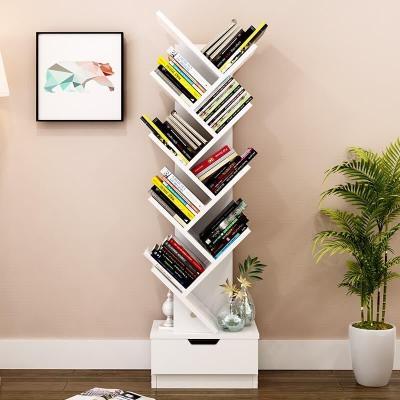 騰煜雅軒 簡約現代書房家具人造板北歐書柜落地小書架客廳收納架辦公室置物架書柜儲物柜組合魚骨書架
