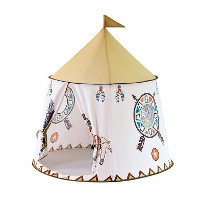 兒童帳篷室內卡通圖案游戲屋家用嬰兒寶寶印第安獅子城堡玩具屋男女孩玩具