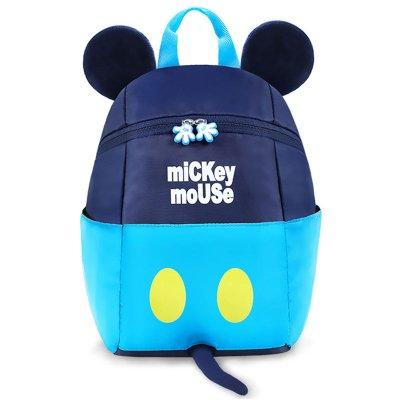 迪士尼(Disney)兒童書包 幼兒園書包 Q版卡通雙肩包 男女幼童小孩12345歲生日禮物 藏藍米奇(大號)