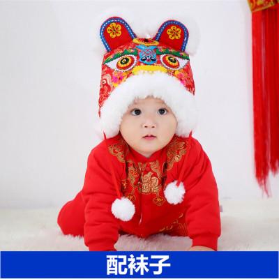 宝宝周岁衣服男童秋冬抓周礼服婴儿连体衣拜年服女过新年喜庆唐装