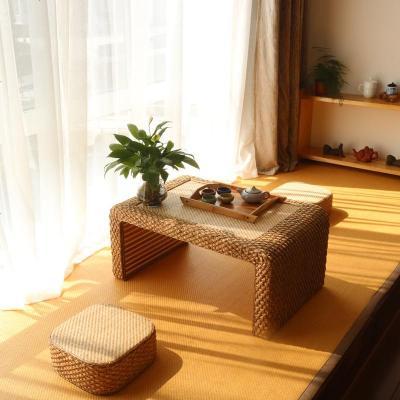 航竹坊 日式飘窗桌阳台简约小茶几炕桌藤编竹编电脑桌榻榻米桌子窗台茶桌