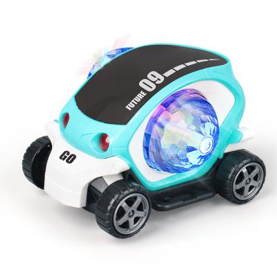 匯奇寶 兒童電動玩具車帶音樂燈光萬向小車男女孩寶寶禮物塑料2-6-14歲 電動萬向車【淺藍】