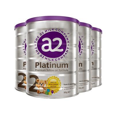 4罐装|澳洲a2Platinum白金版婴幼儿奶粉2段900g(6-12月)