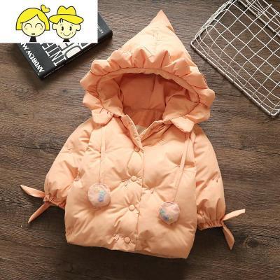 女童羽绒棉服2019新款宝宝冬装棉衣外套婴儿刺绣拜年服一岁儿童