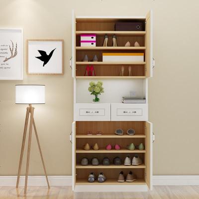 定制鞋柜實木松木廳柜玄關隔斷柜定做簡約現代大容量陽臺儲物柜
