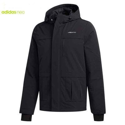 Adidas阿迪達斯NEO2020春季新品男休閑連帽棉服外套 FU1031