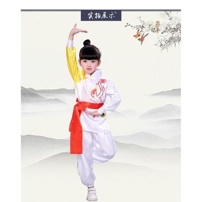 兒童武術服小學生長袖少兒中國功夫練功服男女童幼兒舞蹈演出服